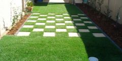 boxes synthetic grass